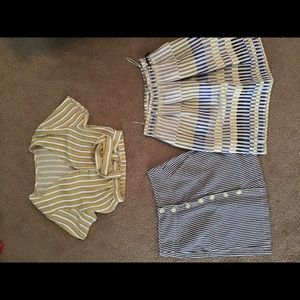 Crop top and 2 skirts xs-small